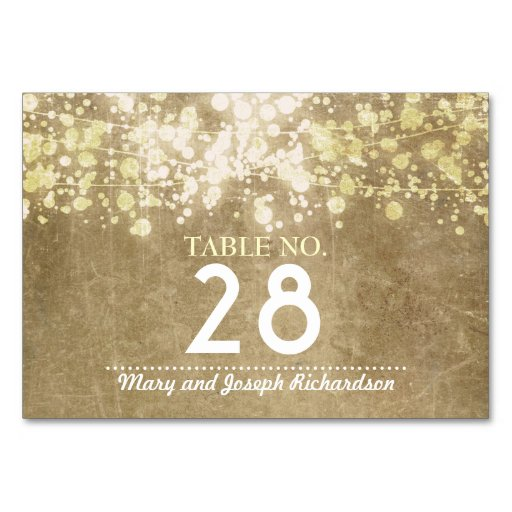Table Place Cards Of String Lighs Wedding Table Number Card Place Card Table