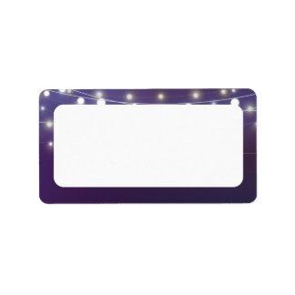 String Light Evening Blank Address Label