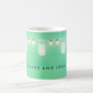 string lights and mason jars in blue green coffee mug blue mason jar string lights