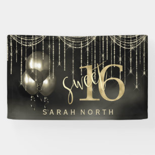 Black And Gold Banners Signs Zazzle