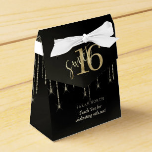 Black Gold Sweet 16 Party Supplies Zazzle