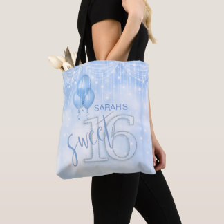 String Lights & Balloons Sweet 16 Lt. Blue ID473 Tote Bag