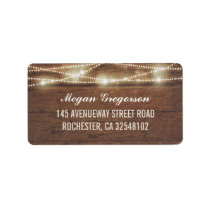 String Lights Barn Wood Rustic Label