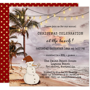in the tropics christmas invitations zazzle