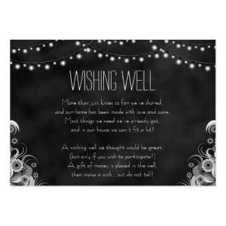 String Lights Black Chalkboard Wishing Well Cards Large Business Cards (Pack Of 100)