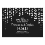 string lights black SAVE THE DATE cards