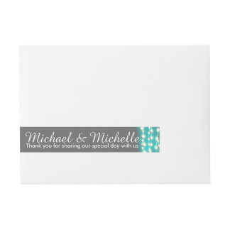 String lights blue glow wrap around address label