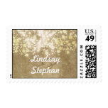 string lights brilliance vintage wedding postage