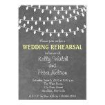 String Lights Chalkboard Wedding Rehearsal Invite