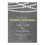 String Lights Chalkboard Wedding Rehearsal Invite Cards