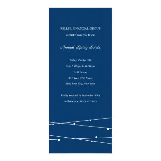 """String Lights Corporate/Business Party Invitation 4"""" X 9.25"""" Invitation Card"""