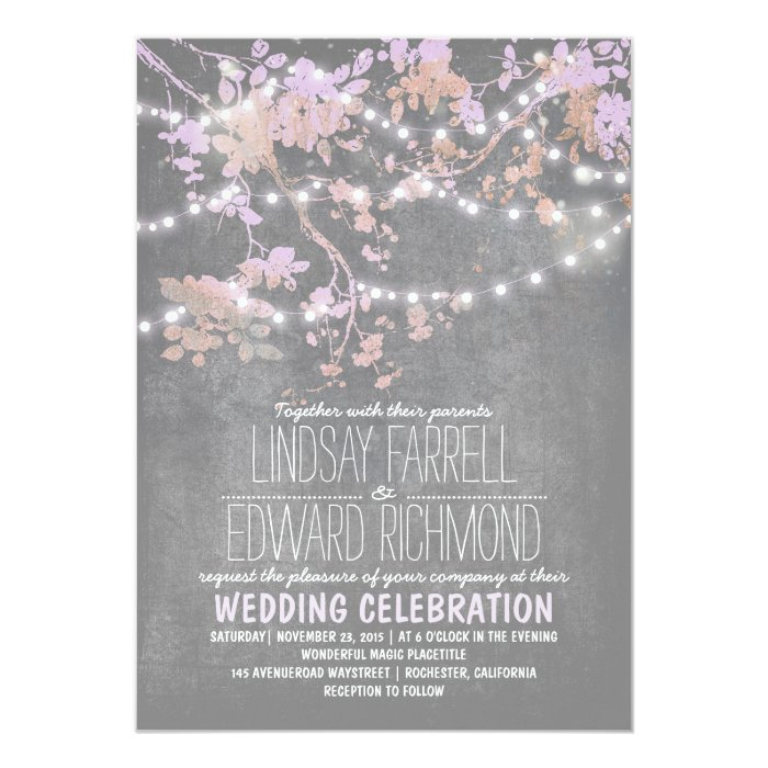String Lights Wedding Invitation : String lights cute and fancy wedding invitations Zazzle