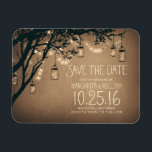 "string lights fireflies mason jars save the date magnet<br><div class=""desc"">rustic mason jars and string lights with fireflies save the date magnets</div>"