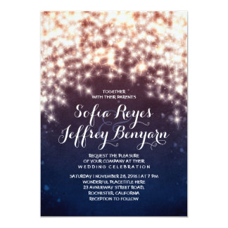 "String lights glitter shining wedding invitations 5"" x 7"" invitation card"