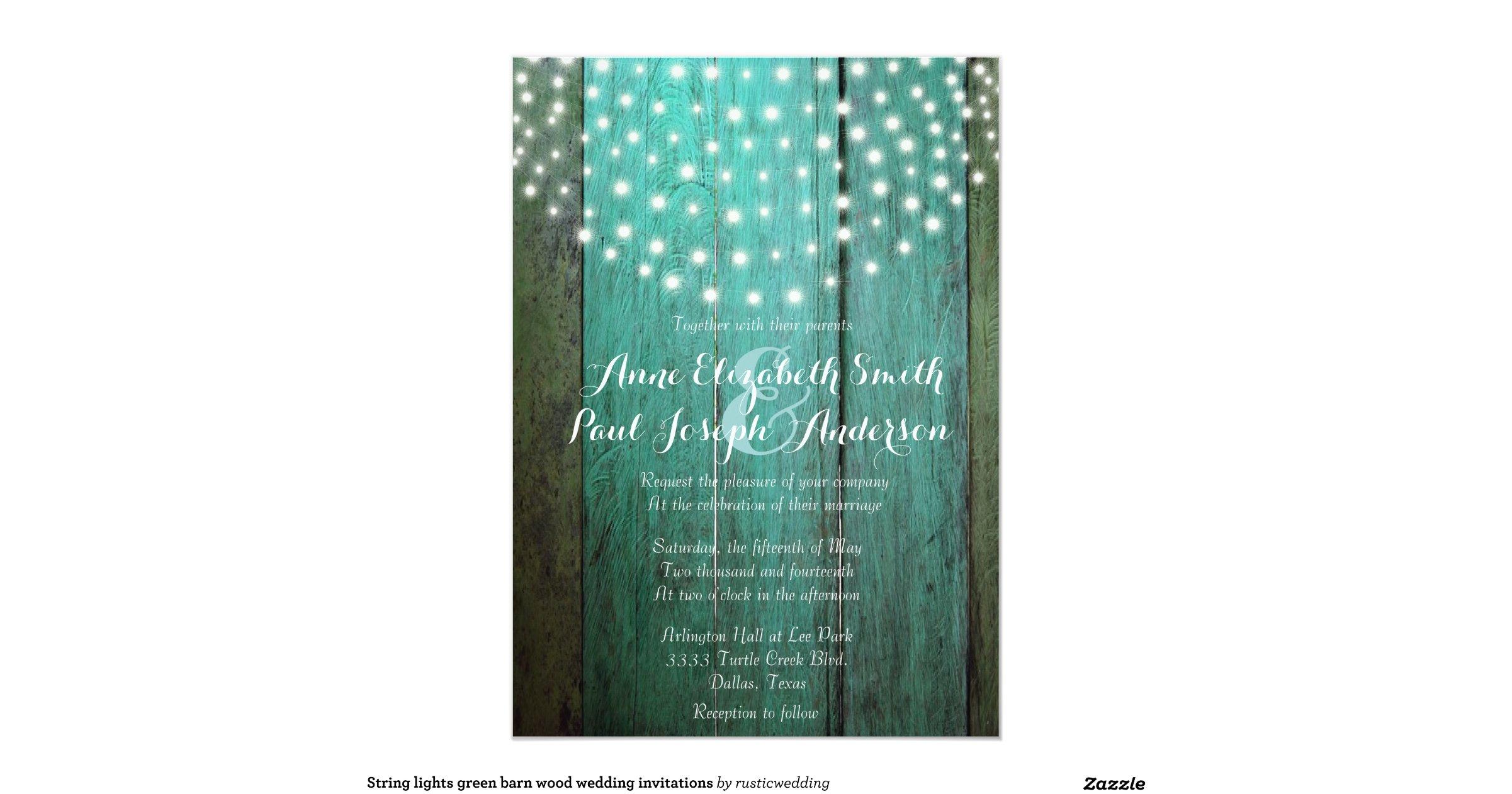 Zazzle String Lights : string_lights_green_barn_wood_wedding_invitations-r73f857371d6648ff97970fad98ea0fe0_zkrqs_1200 ...