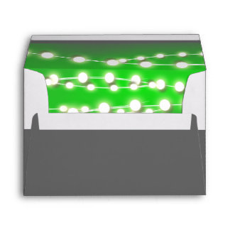 String lights green garden glow envelope