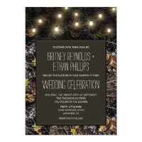 String Lights   Hunting Camo Wedding Invitations