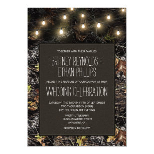 Camo wedding invitations zazzle string lights hunting camo wedding invitations solutioingenieria Image collections
