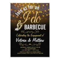 String Lights I Do BBQ Invitations