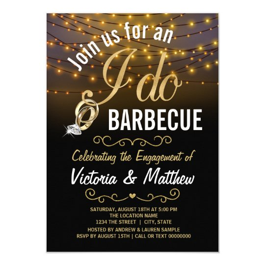 string lights i do bbq invitations zazzle com
