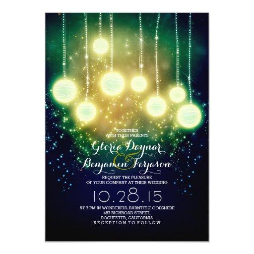 Zazzle String Lights : string lights & lanterns outdoor wedding invites Zazzle