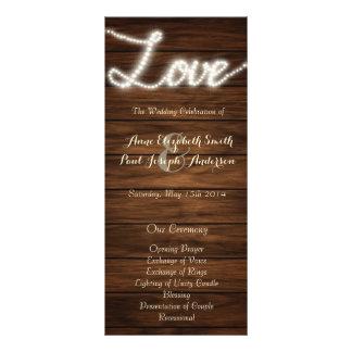 String lights Love wedding program