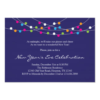 String Lights New Year's Eve Party Invitation