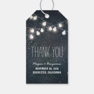 String Lights Night Stars Wedding Gift Tags