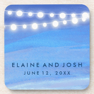String lights on the water beverage coaster