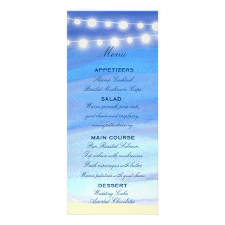 String lights on the water personalized rack card