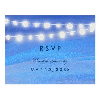String lights on the water RSVP Postcard
