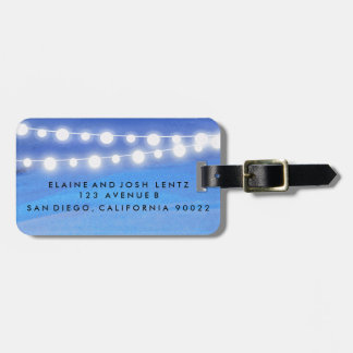 String lights on the water tag for luggage