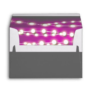 String lights pink garden glow envelope