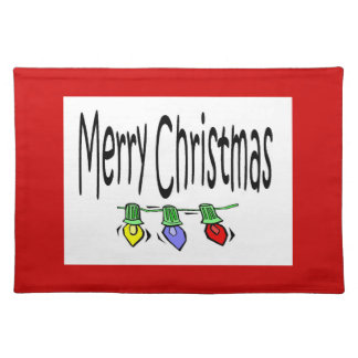 string lights placemat cloth place mat
