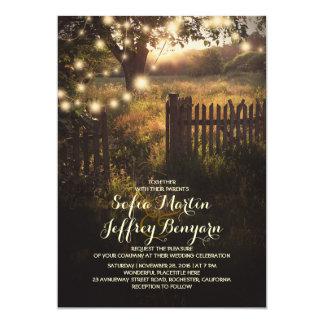 Good String Lights Rustic Country Wedding Invitation
