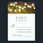 """String Lights Rustic Trees Wedding RSVP Cards<br><div class=""""desc"""">String lights rustic country wedding invitation with old trees</div>"""