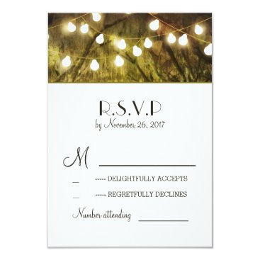 jinaiji String Lights Rustic Trees Wedding RSVP Cards