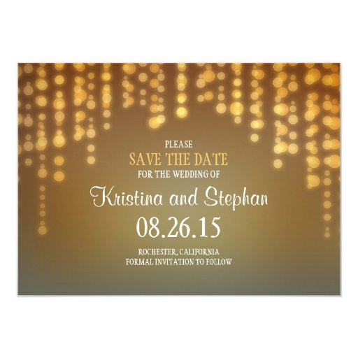 String Lights Save The Date : string lights SAVE THE DATE cards Zazzle