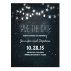 string lights save the date with starry night sky postcard