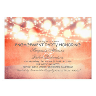 string lights shine romantic engagement party card