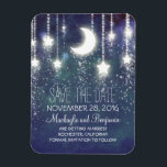 "String Lights Stars and Moon Save The Date Magnet<br><div class=""desc"">stars and moon save the date magnets</div>"