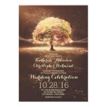 String Lights Tree Elegant Vintage Fall Wedding Card at Zazzle