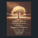 "String Lights Tree Elegant Vintage Fall Wedding Invitation<br><div class=""desc"">Enchanted tree rustic country wedding invitations - perfect for the romantic fall wedding with tree and string lights --- All design elements created by Jinaiji</div>"