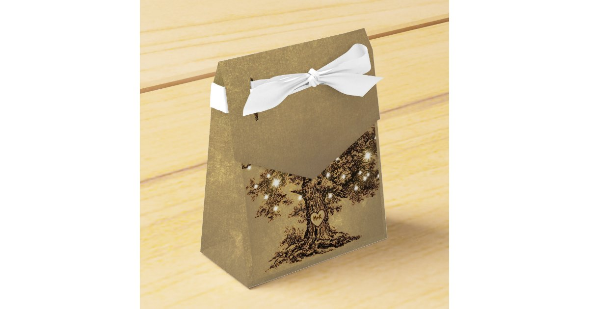 String Lights Rustic Tree : string lights tree old rustic wedding favor box Zazzle