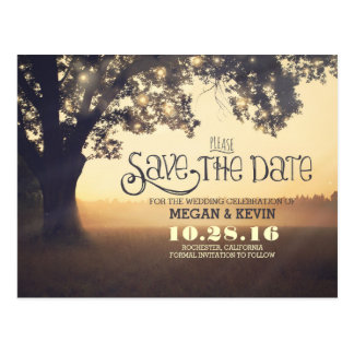 Custom made save the date postcards
