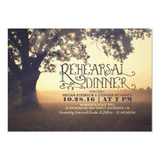 string lights tree rustic rehearsal dinnr invite