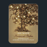 "String Lights Tree Rustic Save The Date Magnet<br><div class=""desc"">Oak tree and wedding lights save the date magnets</div>"