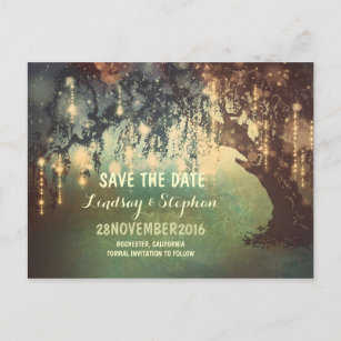 Rustic Save The Date Postcards Zazzle - Rustic save the date templates