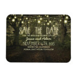 String lights trees path rustic save the date vinyl magnets