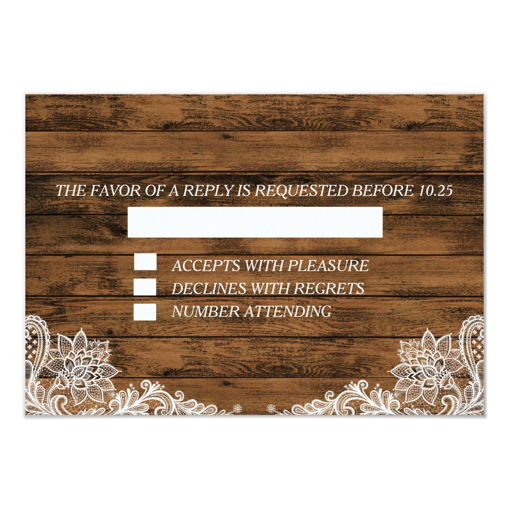 String Lights Wood and Lace RSVP Announcement